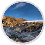 Oil Painting Landscapes Round Beach Towel