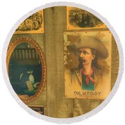 Old West Antiques Round Beach Towel