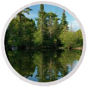 Ontario Nature Scenery Round Beach Towel by Oleksiy Maksymenko