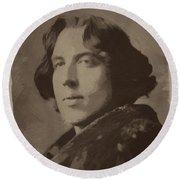 Oscar Wilde 2 Round Beach Towel