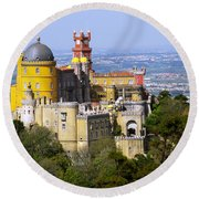 Pena Palace Round Beach Towel