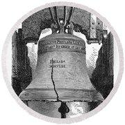 Philadelphia: Liberty Bell Round Beach Towel