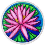 3 Pink Gems Round Beach Towel