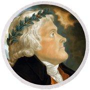 President Thomas Jefferson - Two Round Beach Towel