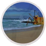3- Pump House Round Beach Towel