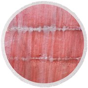 Red Metal  Round Beach Towel