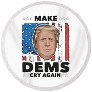 Reelect Trump For President Keep America Great Light Round Beach Towel