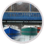 3 Reflections Round Beach Towel
