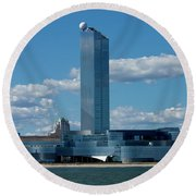 Revel Casino In Atlantic City, New Jersey Round Beach Towel