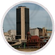 Richmond Virginia Architecture Round Beach Towel