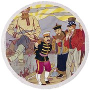 Russo-japanese War, C1905 Round Beach Towel