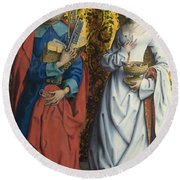 Saints Peter And Dorothy Round Beach Towel
