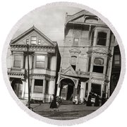 San Francisco Earthquake Round Beach Towel