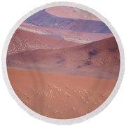 Sand Dune, Sossusvlei, Namib Desert Round Beach Towel