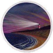 Sankaty Head Lighthouse Nantucket Round Beach Towel