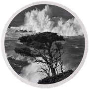 Seascape 11 Round Beach Towel