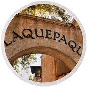 Sedona Tlaquepaque Shopping Center Round Beach Towel