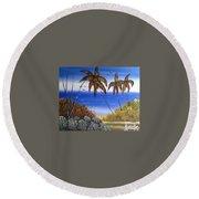 Seescape  Round Beach Towel