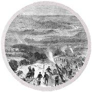 Siege Of Paris, 1870 Round Beach Towel