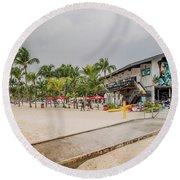 Siloso Beach Round Beach Towel