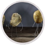 Simple Things - Potatoes Round Beach Towel