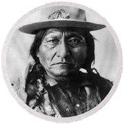 Sitting Bull (1834-1890) Round Beach Towel