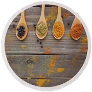 Spices Round Beach Towel