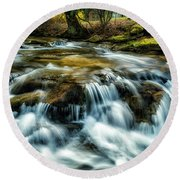 Spring Along Anthony Creek Round Beach Towel