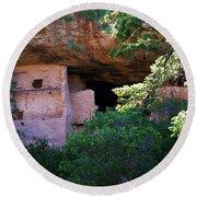 Spruce Tree House - Mesa Verde National Park Round Beach Towel