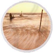S.s Dicky Shipwreck Round Beach Towel