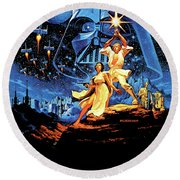 Star Wars Episode Iv - A New Hope 1977 Round Beach Towel