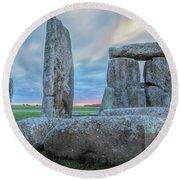 Stonehenge - England Round Beach Towel
