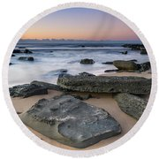 Sunrise And The Sea Round Beach Towel