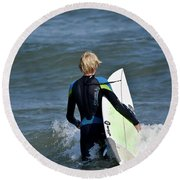Surfs Up Round Beach Towel