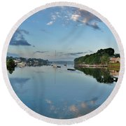 The Bass River At Dawn, Beverly Ma Round Beach Towel