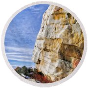The Big Rock Round Beach Towel