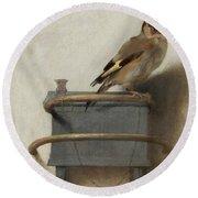 The Goldfinch Round Beach Towel