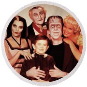 The Munsters Round Beach Towel