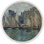 The Museum At Le Havre Round Beach Towel