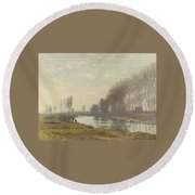 The Small Branch Of The Seine At Argenteuil Round Beach Towel