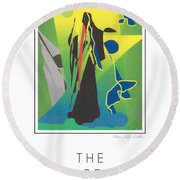 The Time Reaper Round Beach Towel