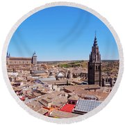 Toledo, Spain Round Beach Towel