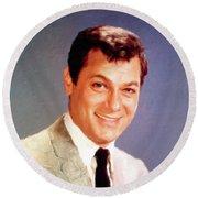 Tony Curtis Vintage Hollywood Actor Round Beach Towel