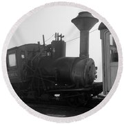 Train Round Beach Towel