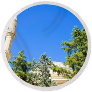 Turkish Mosque Round Beach Towel