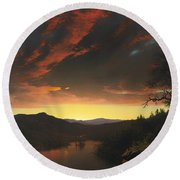 Twilight In The Wilderness Round Beach Towel