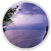 Uluwatu Temple Round Beach Towel