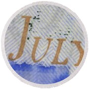 Us 100 Dollar Bill Security Features Round Beach Towel