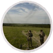 U.s. Air Force Combat Controllers Round Beach Towel