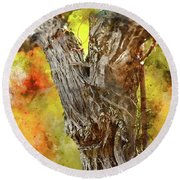 Vine Round Beach Towel